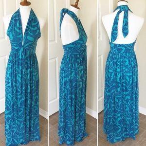 RACHEL PALLY Halter Maxi Floral Resort Dress Sz S